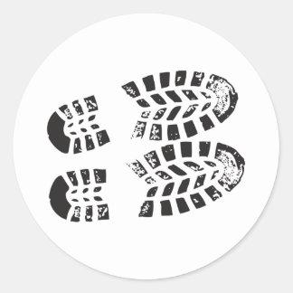 Zapatillas de deporte negras y impresión blanca pegatinas