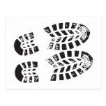 Zapatillas de deporte negras y impresión blanca postal
