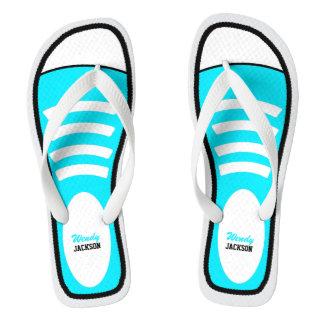 Zapatillas de deporte personalizadas del azul de chanclas