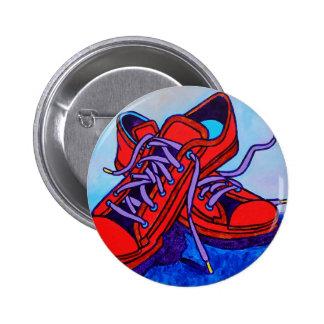 Zapatillas de deporte rojas dos pin