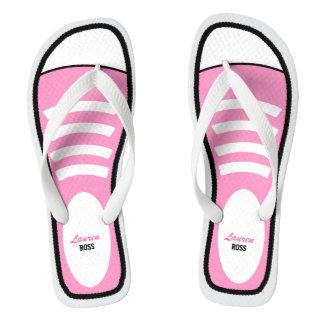 Zapatillas de deporte rosadas personalizadas chanclas