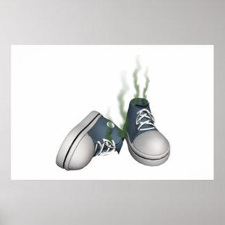Zapatillas de deporte sucias impresiones