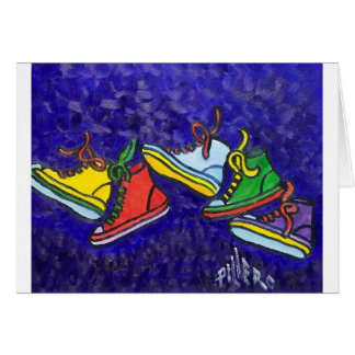 Zapatillas de deporte tarjeta de felicitación