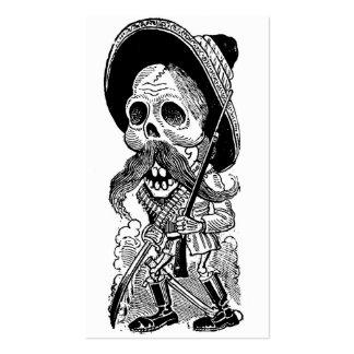 Zapatista Calavera. c. 1900's temprano. México Tarjetas De Negocios