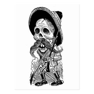 Zapatista Calavera. c. 1900's temprano. México Tarjetas Postales