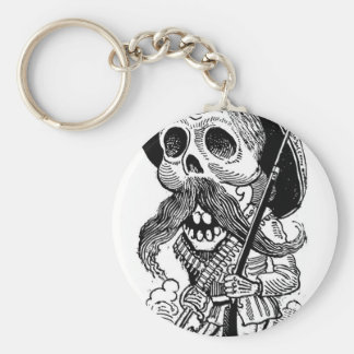Zapatista  Calavera. c. early 1900's. Mexico. Basic Round Button Keychain