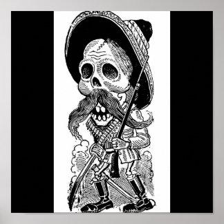 Zapatista  Calavera. c. early 1900's. Mexico. Poster