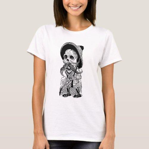 Zapatista  Calavera c early 1900s Mexico T_Shirt