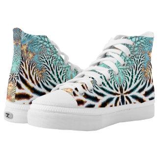 Zapato abstracto del top del alto de Webz de la Zapatillas