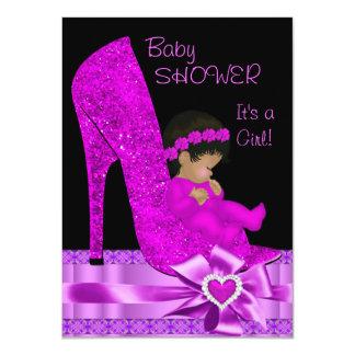 Zapato afroamericano de la púrpura del rosa del invitacion personal