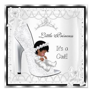 Zapato blanco 3 de la plata del chica de la