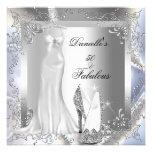 Zapato blanco de plata elegante 50 fabulosos del t invitacion personal