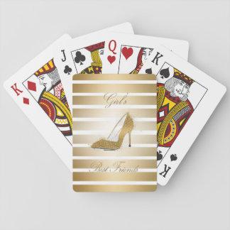 """Zapato bonito """"mejores amigos de los tacones altos barajas de cartas"""