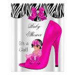 Zapato de bebé lindo de las rosas fuertes del chic
