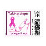 Zapato de la cinta del rosa del cáncer de pecho franqueo