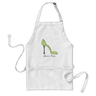 Zapato de la fiesta de jardín delantal