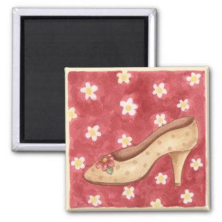Zapato de la flor - imán