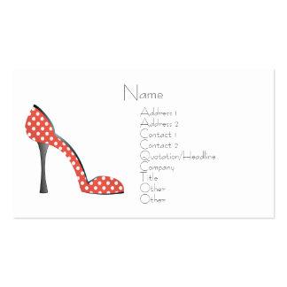 Zapato de la mariquita tarjetas de visita