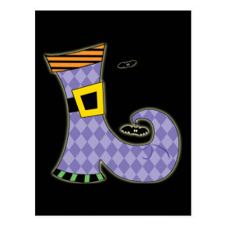 Zapato de las brujas tarjeta postal