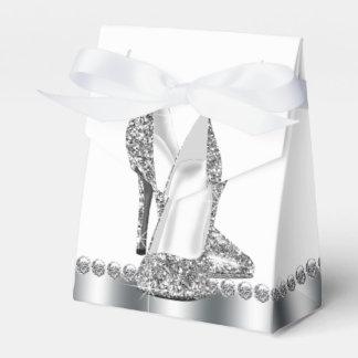 Zapato de plata elegante atractivo del tacón alto cajas para regalos de fiestas