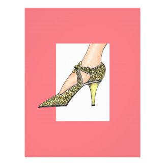 """zapato de tacón alto de los años 20 folleto 8.5"""" x 11"""""""