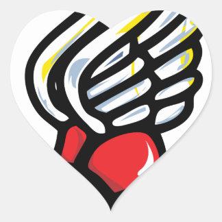 zapato del atleta pegatina en forma de corazón