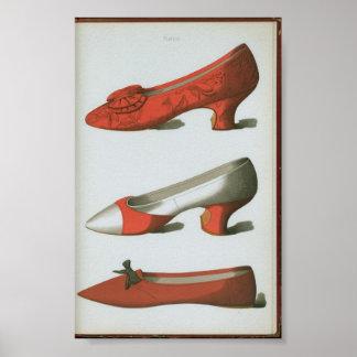 Zapato del brocado posters