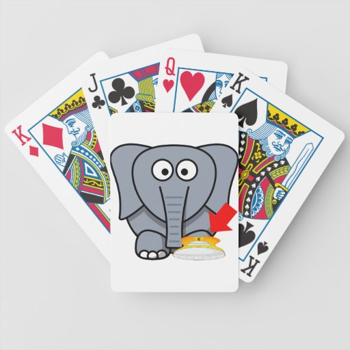 Zapato del elefante te amo baraja cartas de poker