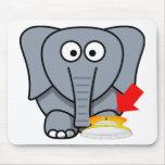 Zapato del elefante te amo tapete de ratones