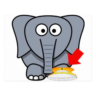 Zapato del elefante te amo postal