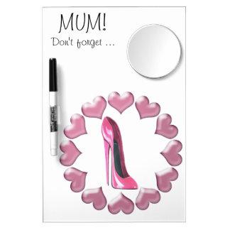 Zapato del estilete del tacón alto y regalos rosad pizarras