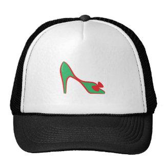Zapato del tacón alto gorros bordados