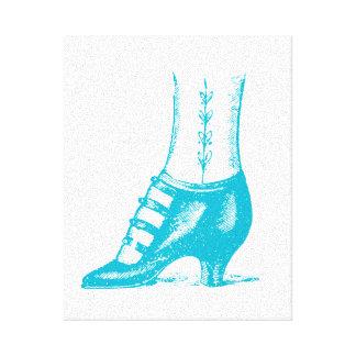 Zapato del vintage lona estirada galerias