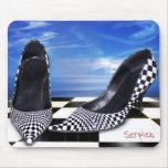 Zapato diseñado Mousepad-A cuadros Tapetes De Ratón