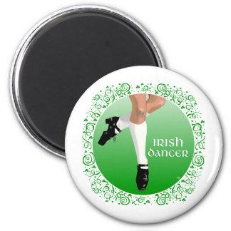 Zapato duro del bailarín irlandés imán redondo 5 cm