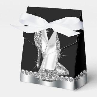 Zapato elegante del tacón alto del brillo caja para regalos de fiestas