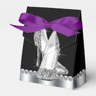 Zapato elegante del tacón alto del brillo cajas para regalos
