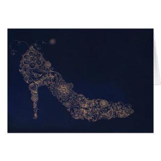 Zapato elegante - tarjeta