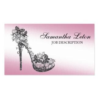 Zapato floral moderno elegante de la bomba del tac tarjetas de negocios