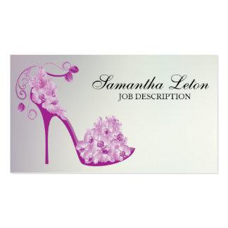 Zapato floral moderno elegante de la bomba del tac plantilla de tarjeta personal