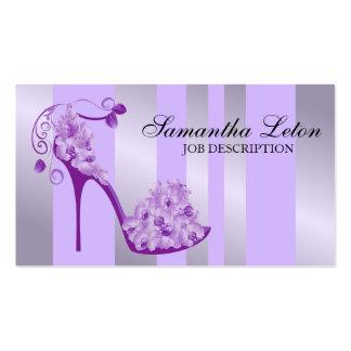Zapato floral moderno elegante de la bomba del tac plantilla de tarjeta de visita