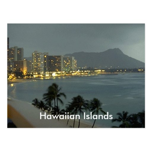 zapato, islas hawaianas tarjeta postal