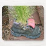 Zapato Mousepad de la hierba Tapete De Ratón