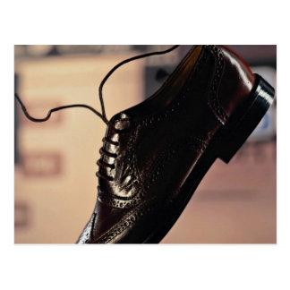 Zapato negro del negocio para los hombres de negoc tarjeta postal