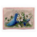 Zapato por completo de flores tarjetas postales