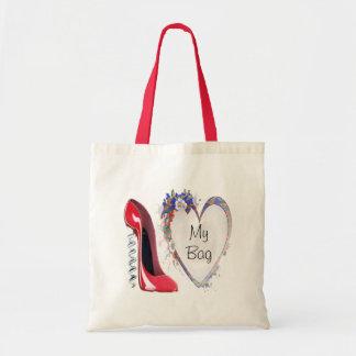 Zapato rojo del estilete del sacacorchos y regalos bolsa tela barata