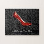 Zapato rojo descarado puzzles