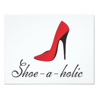 Zapato-uno-holic Invitación 10,8 X 13,9 Cm