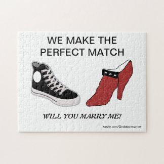 Zapato usted me casará rompecabezas