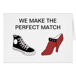 Zapato usted me casará tarjeta
